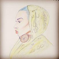 Kuli, Frau, Menschen, Zeichnungen