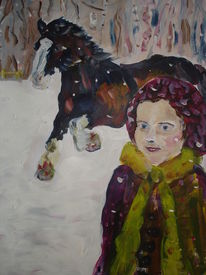 Pony, Kind, Schnee, Winter
