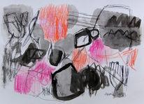 Malerei, Abstrakt, Mischtechnik, Tusche