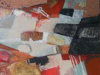 Malerei, Abstrakt, Ölmalerei, Mischtechnik