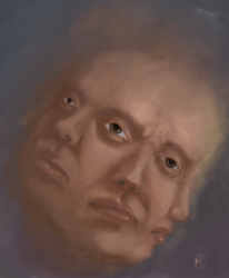 Krank, Gesicht, Kopf, Digitale kunst