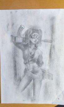 Cyberpunk, Shadowrun, Charakter, Mädchen