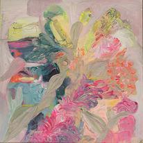 Neon, Warm, Blumen, Abstrakt