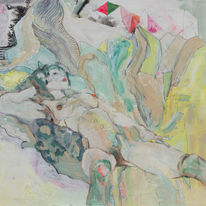 Alpen, Pastellmalerei, Akt, Expressionismus