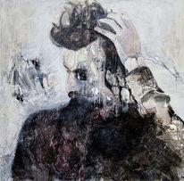 Mann, Portrait, Uher, Abstrakt