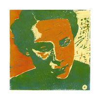 Linol, Figural, Portrait, Grafik
