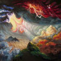 Wolkenbruch, Wolken, Blitzen, Blitz