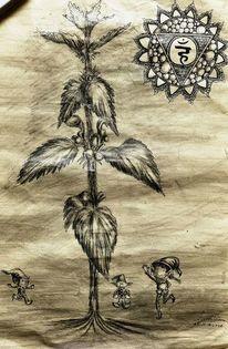 Kohlezeichnung, Traum, Zeichnung, Zeichnungen