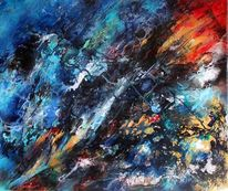 Abstrakte malerei, Dekoration, Farben, Malerei