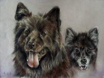 Hundezeichnung, Tierportrait, Hundeportrait, Zeichnungen