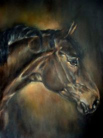 Pferdeportrait, Pferdemalerei, Trakehner, Malerei