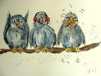 Vogel, Singvogel, Vogelgruppe, Zeichnungen