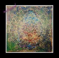 Lackfarben, Mandala, Farben, Plastik