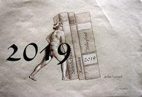 Frau, Buch, 2019, Silvester