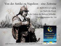 Geschichte, Historie, Leipzig, Zeichnungen