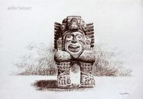 Azteke, Bart, Konquista, Amerika