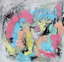 Abstrakt, Bewegung, Ausdrucksmalerei, Acrylmalerei