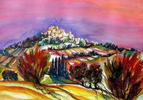 Toskana, Landschaft, Pienza, Stimmung