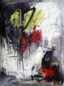 Abstrakt, Ausdrucksmalerei, Acrylmalerei, Gefühl