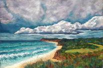 Pastellmalerei, Landschaft, Nordirland, Malerei