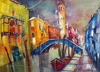 San lorenzo, Aquarellmalerei, Venedig, Aquarell