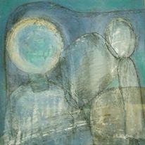 Ocker, Grün, Blau, Malerei