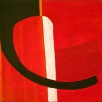 Abstrakt, Gelb, Rot schwarz, Weiß