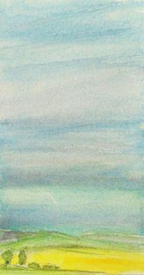 Landschaft, Himmel, Aquarellmalerei, Aquarell