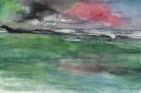 Aquarellmalerei, Fantasie, Landschaft, Aquarell
