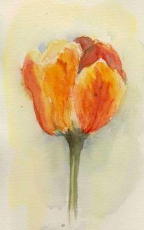 Aquarellmalerei, Blumen, Aquarell
