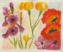 Deckfarbe, Blumen, Billige, Aquarell