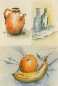Aquarellmalerei, Skizze, Stillleben, Aquarell