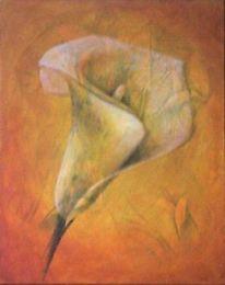 Acrylmalerei, Calla, Malerei