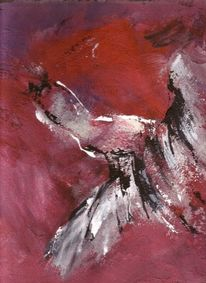Fliegen, Acrylmalerei, Abstrakt, Feuervogel