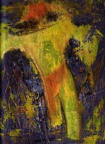 Figur, Acrylmalerei, Malerei, Großstadt