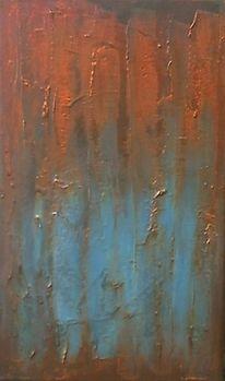 Kupfer, Türkis, Acrylmalerei, Malerei
