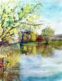 Landschaft, Frühling, Natur, Wasser
