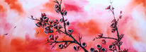 Acrylmalerei, Abstrakt, Blühen, Aquarellmalerei