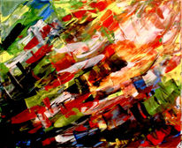 Abstrakt, Erfolg, Helén, Acrylmalerei