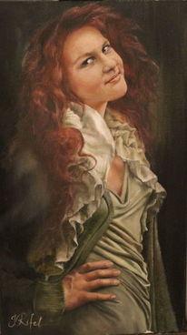 Malerei, Portrait, Ölmalerei, Zachnung