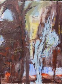 Malerei, Poesie, Abstrakt, Schrift