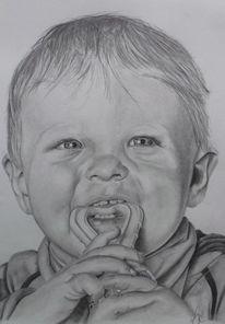 Bleistiftzeichnung, Zeichnung, Kinder, Zeichnungen