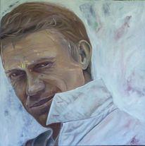 Schauspieler, Männlich, Portrait, Malerei