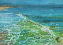Wasser, Grün, Welle, Wild