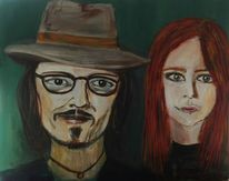 Kopf, Malerei, Acrylmalerei