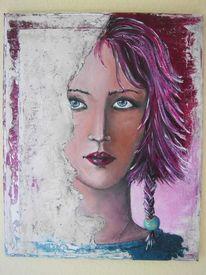 Acrylmalerei, Mischtechnik, Spachteltechnik, Frau