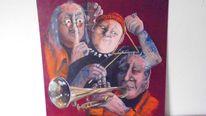 Band, Acrylmalerei, Musiker, Malerei