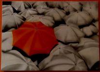 Regenschirme, Airbrush, Illustrationen,