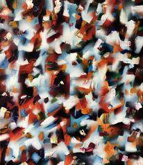 Abstrakt, Ölmalerei, Farben, Rot