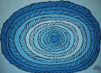 Wirbel, Rund, Malerei, Twister